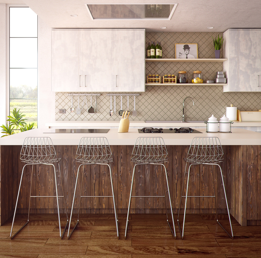 image showing a beautiful kitchen